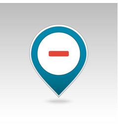 Minus pin map icon map pointer markers vector