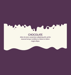 modern poster splashes and drops chocolate vector image