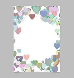 multicolored random heart page background design vector image