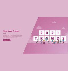 new year 2021 trends for website design template vector image