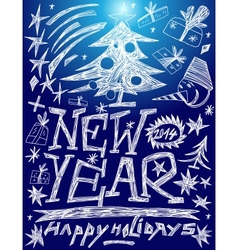 New Year - doodles set vector image