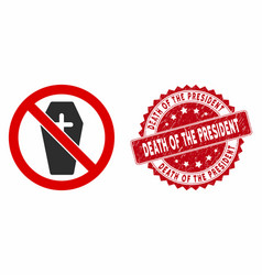 no coffin icon with scratched death the vector image