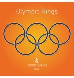 Olympic rings Sport games Rio vector