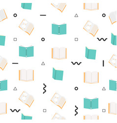open books seamless pattern vector image