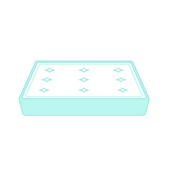 padded orthopedic double bed mattress for vector image