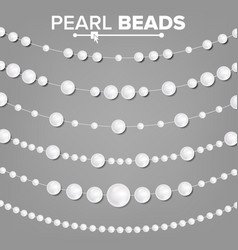 Pearl garlands glamour pearls vintage vector