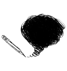 Pencil shading Hand-drawn Doodle vector image