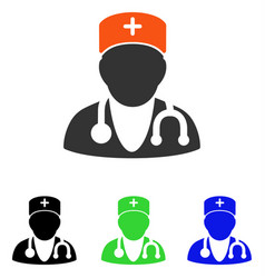 Physician flat icon vector