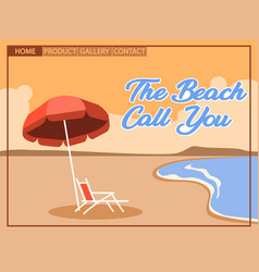 Pop art cubism for beach vacation homepage vector