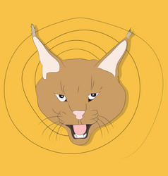 portrait of a lynx on a background vector image