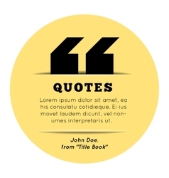 Quote blank template on yellow background vector image