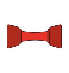 Red dumbbell design vector