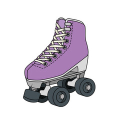 Roller skate nineties retro isolated icon vector