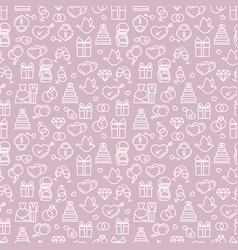 Romantic wedding seamless pattern design vector