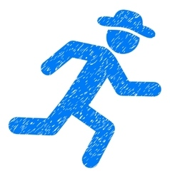 Running Gentleman Grainy Texture Icon vector