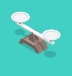 scales with bowls and a shadow vector image