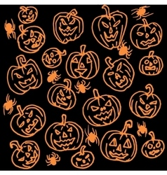 Seamless pattern for Halloween Pumpkin vector