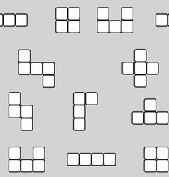 Seamless pattern linear block game vector