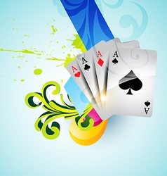 set of casino playing cards vector image
