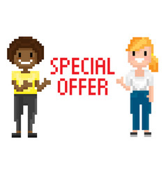 Shooting females special offer pixel vector