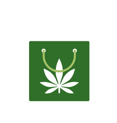 Shopping bag of medicinal cannabis bag with vector