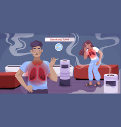 Smoking health danger flat banner vector