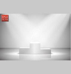 spotlights scene light effects vector image