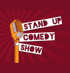Stand up comedy microphone on vector