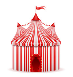 striped red circus tent stock vector image