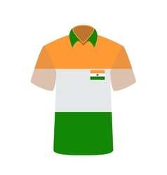 T-shirt with indian flag background vector