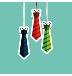 ties hanging design vector image