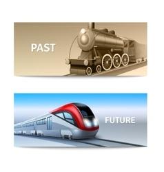 Train Banner Set vector