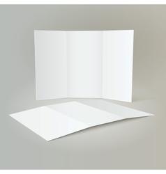 Tri-Fold Mockup Brochure Design vector
