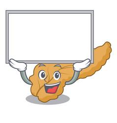 Up board pancreas character cartoon style vector