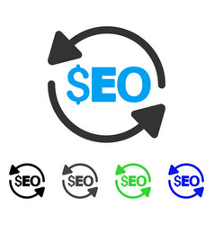 Update seo flat icon vector