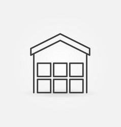 warehouse outline icon vector image