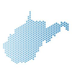 West virginia state map honeycomb mosaic vector