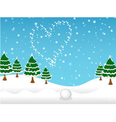 Winter and snow background vector image