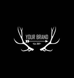 apparel logo clothing brand logo template vector image