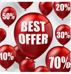 Best offer balloons vector