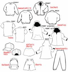 Clothing apparel templates vector
