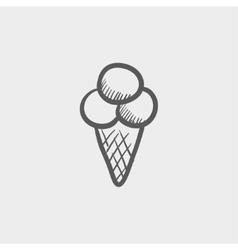 Ice cream sketch icon vector image