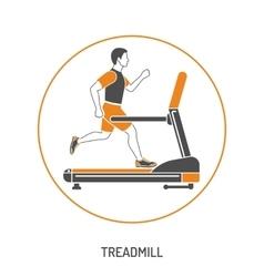 Runner on Treadmill Concept vector image
