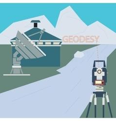 Scientific Surveying Company vector image vector image
