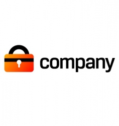 security lock logo for company vector image vector image