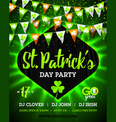 17 march saint patricks day party bright vector image