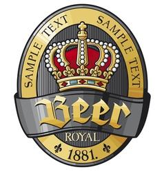 beer label design with crown vector image
