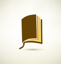 book isolated symbol vector image