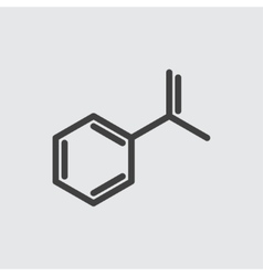 Chemical formula icon vector image
