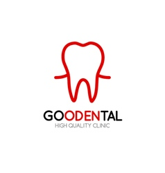 Healthy tooth Logo design template in linear style vector image vector image